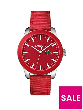 lacoste-lacoste-1212-red-dial-red-fabric-strap-mens-watch