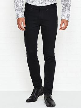 hugo-734-leather-detail-skinny-jeansnbsp--black