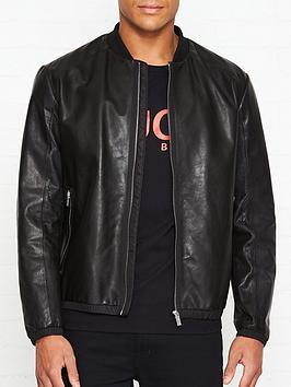 hugo-lewy-leather-bomber-jacket-black