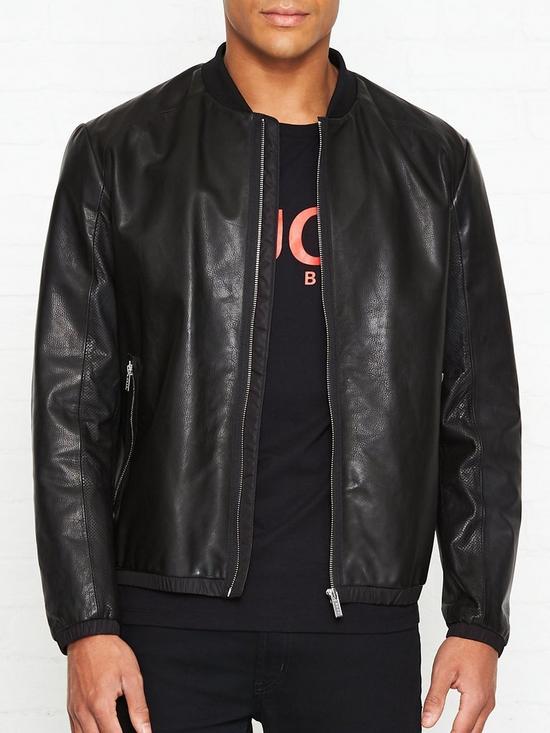 867f108ec Lewy Leather Bomber Jacket - Black