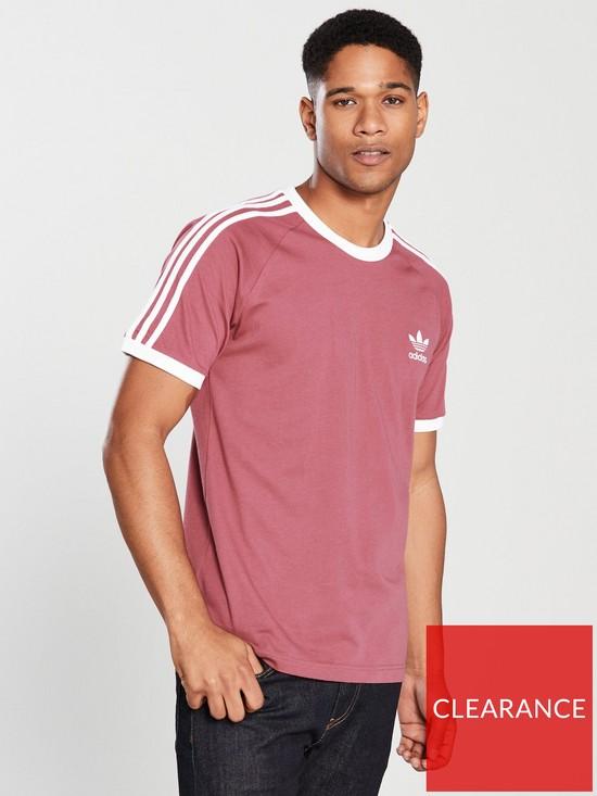 Adidas Originals California Drucken T Hemden Maroon Für
