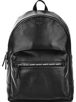 hugo-mens-national-leather-backpack-black