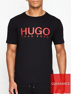 hugo-dolivenbsplogo-print-t-shirtnbsp--black