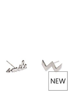 mya-bay-zig-zag-smile-earrings-silver
