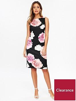 wallis-petite-blossom-scuba-shift-dress