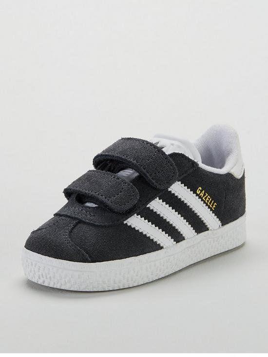 various colors 9da05 4ede8 adidas Originals Gazelle Infant Trainer - Dark Grey