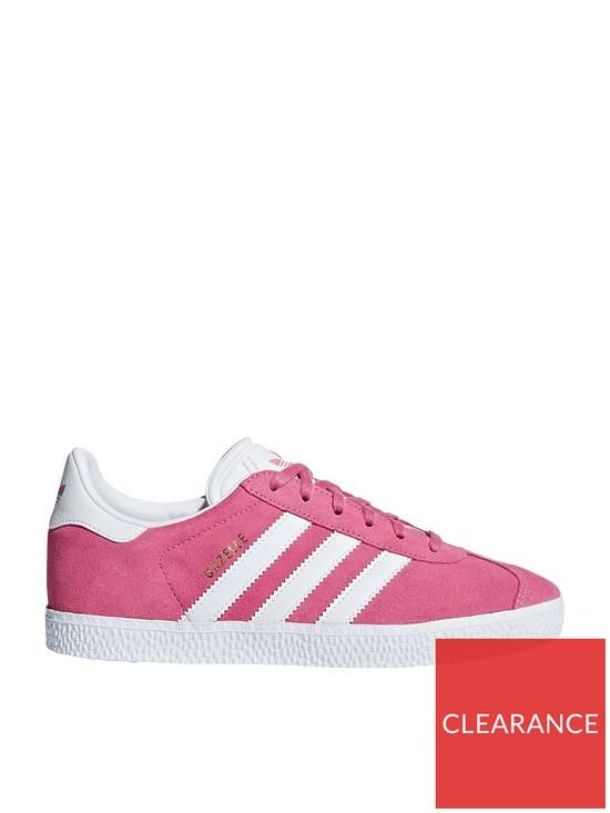wholesale dealer 3f6a5 6bfc8 adidas Originals Gazelle Junior Trainer - PinkWhite
