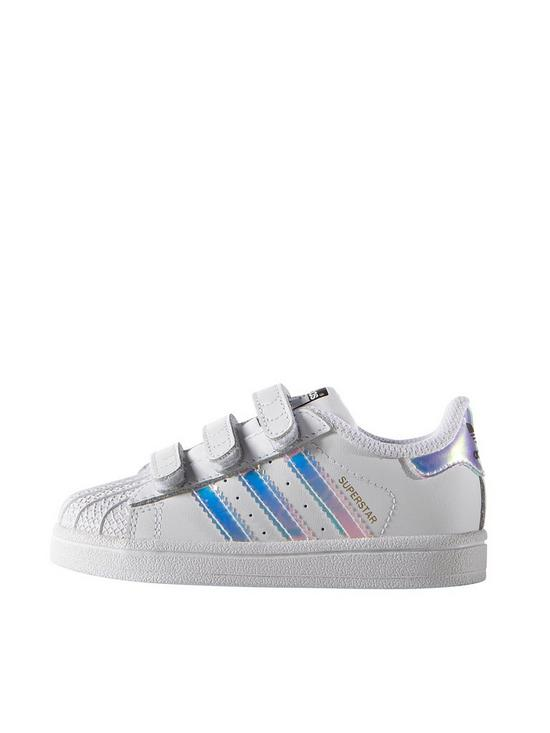 8502f05ebda adidas Originals Superstar Infant Trainer - White Iridescent