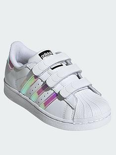 ac4908c3d09836 adidas Originals Superstar Childrens Trainer - White Iridescent