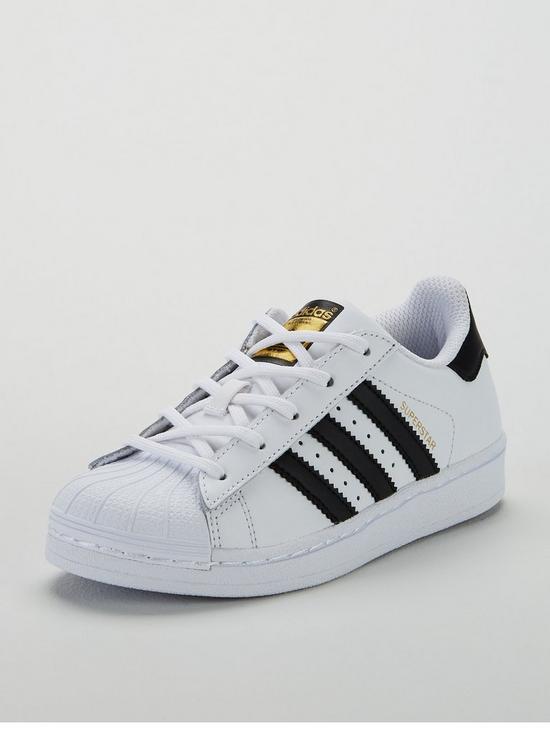 the latest 77922 dde30 adidas Originals Superstar Childrens Trainers - White