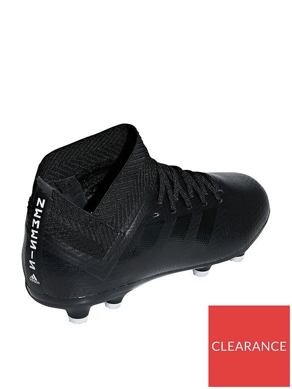 8f90f7e61 adidas Junior Nemeziz 18.3 Firm Ground Football Boots - Black