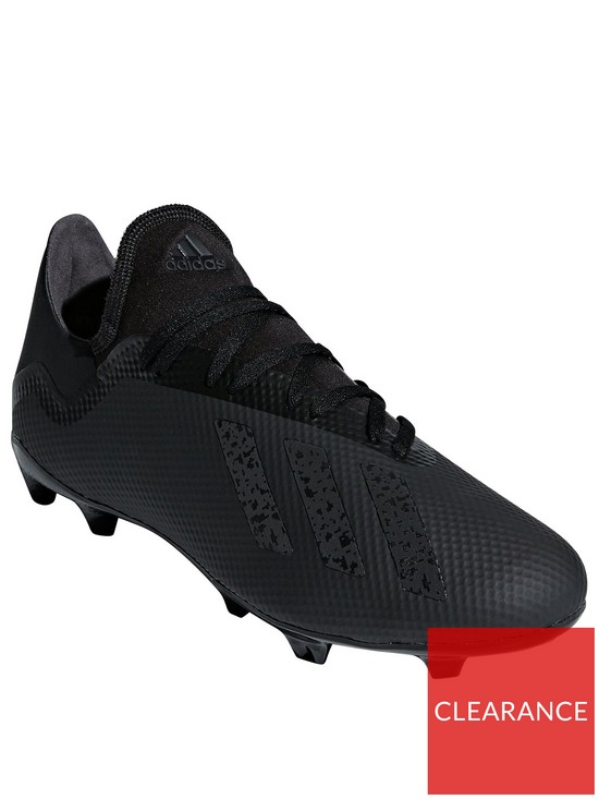 buy online 8e5fe b60f2 adidas X 18.3 Firm Ground Football Boots - Black