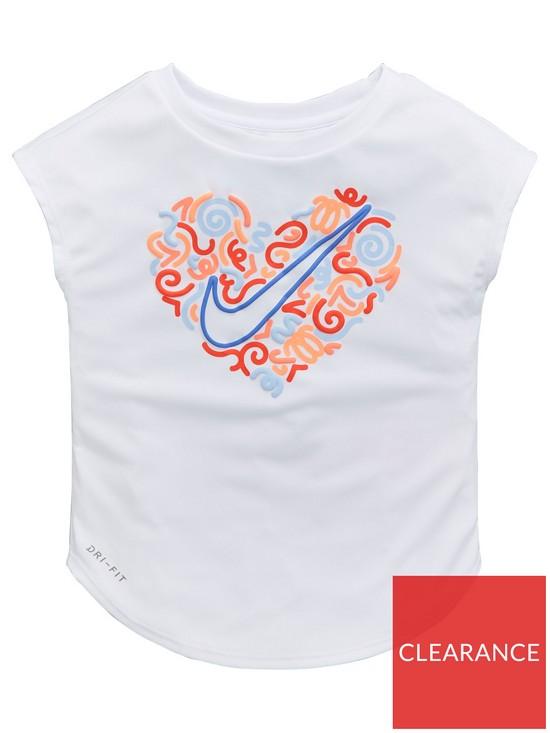 51e3137b3f2f Nike Younger Kids Squiggle Heart Tee - White   very.co.uk