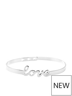 mya-bay-love-script-silver-plated-bangle