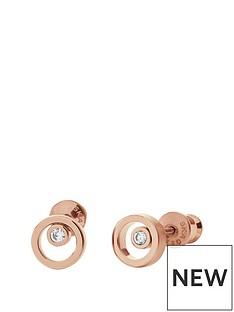 skagen-skagen-ladies-rose-gold-tone-crystal-circle-stud-earrings