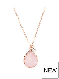 fossil-fossil-ladies-necklace-rose-gold-tone-quartz-teardrop