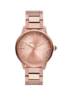 diesel-castilla-rose-gold-tone-glitter-effect-sunraynbspdial-ladies-watch