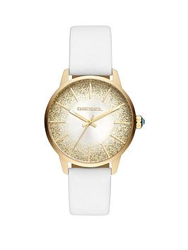 diesel-castilla-white-leather-strap-sunraynbspglitter-effect-dial-ladies-watch