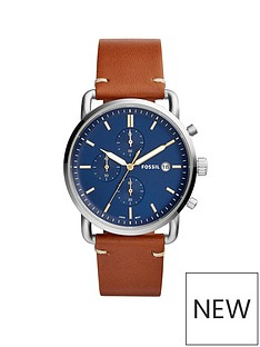 fossil-fossil-mens-chronograph-watch-light-brown-leather-strap-stainless-steel-case-blue-dial