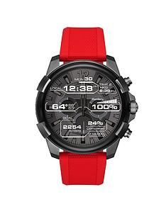 diesel-diesel-mens-display-touchscreen-smartwatch-black-ip-stainless-steel-red-silicone-strap