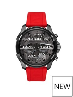 diesel-diesel-mens-display-touchscreen-smartwatch-black-ip-stainless-steel-red-silicone-strap
