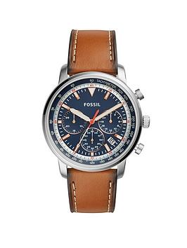 fossil-goodwin-chronograph-light-brown-stitched-leather-strap-stainless-steel-case-blue-dial-mens-watch