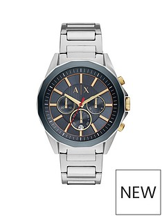 armani-exchange-armani-exchange-mens-watch-stainless-steel-case-and-bracelet-blue-dial-with-gold-tone-accents