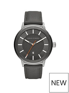 armani-exchange-armani-exchange-mens-watch-stainless-steel-case-gray-leather-strap-with-tonal-gray-dial