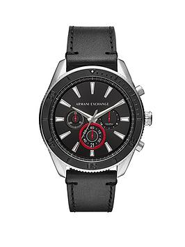 armani-exchange-stainless-steel-case-black-leather-strap-black-dial-with-red-accents-mens-watch