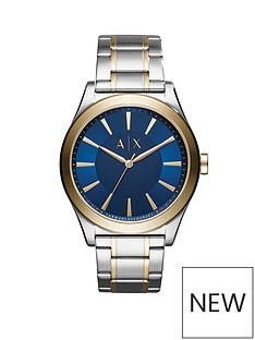 armani-exchange-armani-exchange-mens-watch-two-tone-stainless-steel-case-and-bracelet-with-blue-sunray-dial