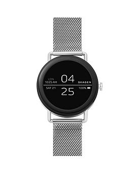 Skagen Touchscreen Display Stainless Steel Smartwatch With Mesh Bracelet Strap thumbnail
