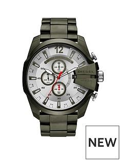 diesel-diesel-mens-watch-green-ip-stainless-steel-case-bracelet-with-silver-dial