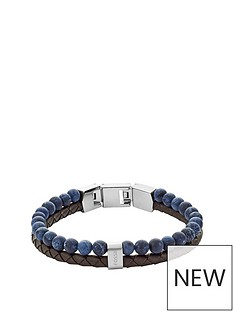 fossil-fossil-mens-beadleather-bracelet-blue-and-brown