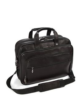 Falcon Colombian Leather 15.6-16 Inch Laptop Briefcase