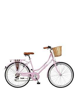 Viking Belgravia 18 Inch Frame 26 Inch Wheel 6 Speed Traditional Bike Pink