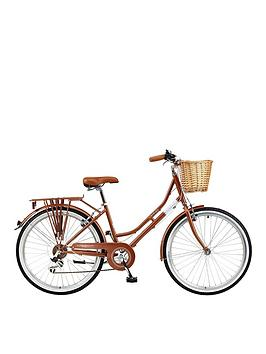 viking-viking-belgravia-16-inch-frame-26-inch-wheel-6-speed-traditional-bike-rose-gold