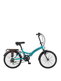 Viking VikingMetropolis 13 Inch Frame, 20 Inch Wheel, 6-Speed Folding Bike - Blue