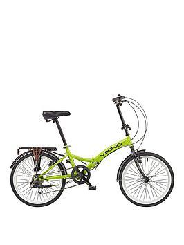 viking-vikingnbspmetropolis-13-inch-frame-20-inch-wheel-6-speed-folding-bike-green