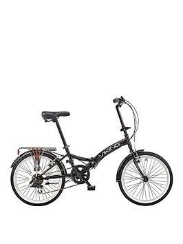 Viking Viking Metropolis 13 Inch Frame, 20 Inch Wheel, 6-Speed Folding Bike – Black