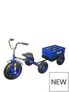 tow-039n039-go-childrens-trike-tricycle-with-trailer-blue
