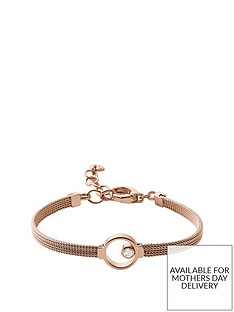 skagen-skagen-ladies-rose-gold-tone-crystal-circle-bracelet