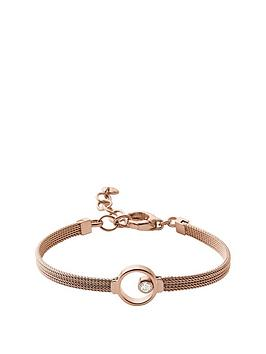 skagen-skagen-ladies-rose-gold-tone-crystal-circle-bracelet