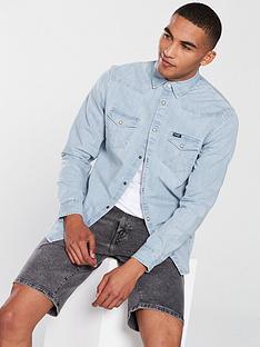wrangler-long-sleeve-western-denim-shirt
