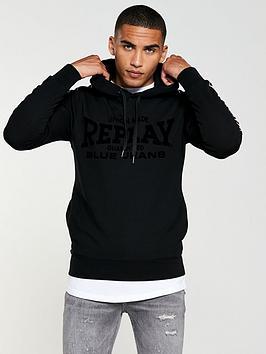 replay-blue-jeans-tape-detail-hoodie