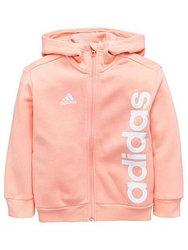 adidas-younger-girls-linear-hoodie-coralnbsp