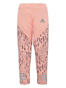 adidas-younger-girls-tights-coralnbsp