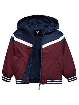 mini-v-by-very-colour-block-fleece-lined-lightweight-jacket