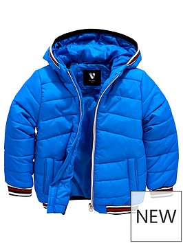 mini-v-by-very-stripe-trim-padded-coat