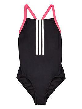 adidas-girls-3-stripe-swimsuit-blacknbsp