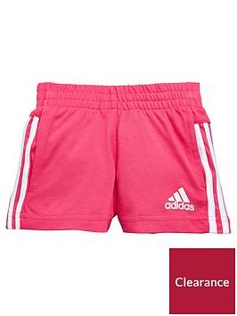 adidas-younger-girls-knit-short-pink